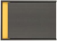 Шкаф навесной Black Red White Graphic S202-NAD1D (серый вольфрам) -