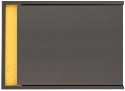 Шкаф навесной Black Red White Graphic S202-NAD1D (серый вольфрам)