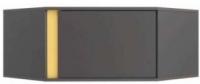 Шкаф навесной Black Red White Graphic S202-NAD1D/SZFN (серый вольфрам) -