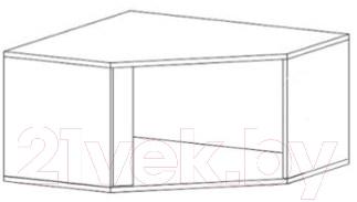 Шкаф навесной Black Red White Graphic S202-NAD1D/SZFN (серый вольфрам)