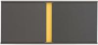 Шкаф навесной Black Red White Graphic S202-NAD2D/SZF (серый вольфрам) -