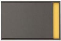 Шкаф навесной Black Red White Graphic S202-SFW1DL (серый вольфрам) -