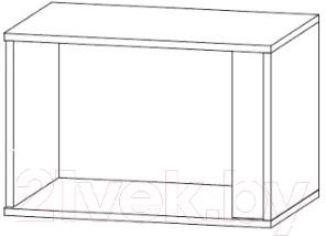 Шкаф навесной Black Red White Grafic S202-SFW1DP (серый вольфрам)