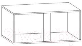 Шкаф навесной Black Red White Graphic S202-SFW2D/86/38 (серый вольфрам)