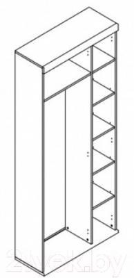 Шкаф Black Red White Homeline S122-SZF2M1D/20/8 (дуб сонома темный)