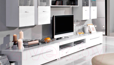 Полка Black Red White Jang S92-PAN-8-11 (белый блеск)