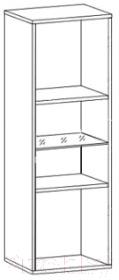 Шкаф навесной Black Red White Jang S92-SFW1W-12-4 (белый блеск)