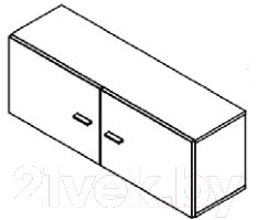 Шкаф навесной Black Red White Jang S92-SFW2D-4-11 (белый блеск)