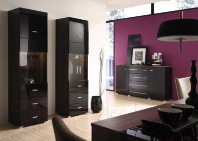 Шкаф-пенал Black Red White Jang S92-REG1W1D2S-19-5 (черный блеск)