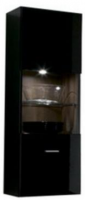 Шкаф навесной Black Red White Jang S92-SFW1W-12-4 (черный блеск) -