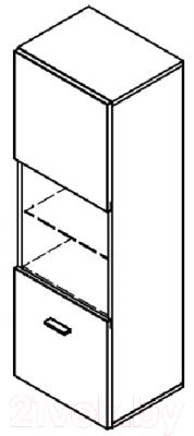 Шкаф навесной Black Red White Jang S92-SFW1W-12-4 (черный блеск)