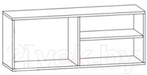 Шкаф навесной Black Red White Jang S92-SFW2D-4-11 (черный блеск)