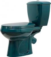 Унитаз напольный Оскольская керамика Элисса (зеленый) -