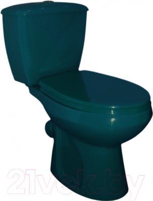 Унитаз напольный Оскольская керамика Элисса (зеленый)