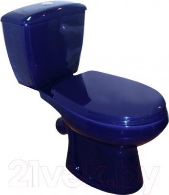 Унитаз напольный Оскольская керамика Элисса (синий)