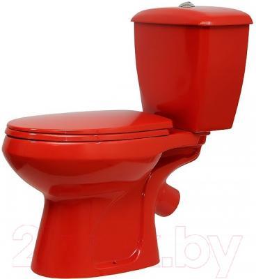 Унитаз напольный Оскольская керамика Элисса (красный)
