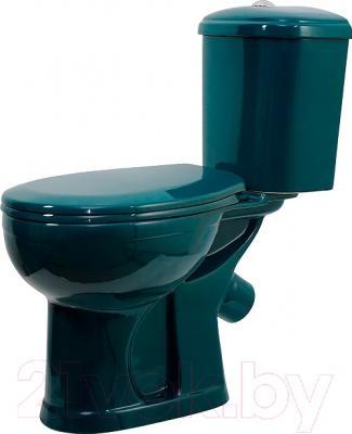 Унитаз напольный Оскольская керамика Дора (зеленый)