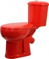 Унитаз напольный Оскольская керамика Дора (красный) -