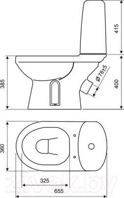 Унитаз напольный Оскольская керамика Эльдорадо Люкс - схема