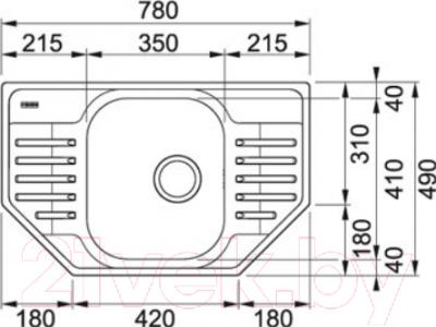 Мойка кухонная Franke PXL 612E (101.0253.202)