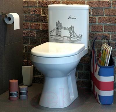 Унитаз напольный Оскольская керамика Лорена Люкс + декор Лондон