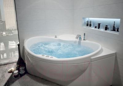Ванна акриловая Aquatek Эпсилон 150x150 (с гидромассажем и экраном)