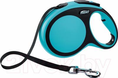 Поводок-рулетка Flexi New Comfort L 5m (ремень синий)