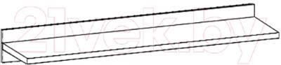Полка Black Red White Somatic S164-P/1/10 (дуб сонома)
