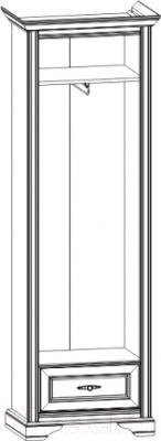 Шкаф-пенал Black Red White Стилиус NSZF 1d1s P