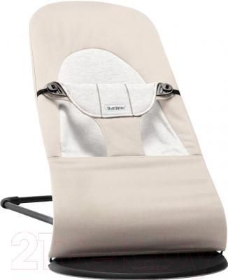 Детский шезлонг BabyBjorn Balance Soft Cotton/Jersey 0050.83 (бежевый/серый)