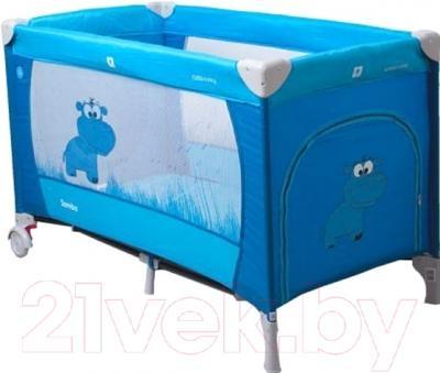 Кровать-манеж Coto baby Samba Proste 2016 (03/голубой)
