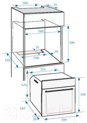 Электрический духовой шкаф Beko OIM27200AV