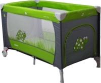 Кровать-манеж Coto baby Samba Proste 2016 (05/зелено-серый) -