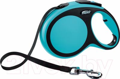 Поводок-рулетка Flexi New Comfort XS 3m (ремень синий)