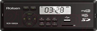 Бездисковая автомагнитола Rolsen RCR-100G24