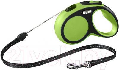 Поводок-рулетка Flexi New Comfort S 5m (трос зеленый)