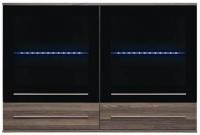 Шкаф навесной Black Red White Like S143-SFW2W2S-8-12 с подсветкой -