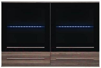 Шкаф навесной Black Red White Like S143-SFW2W2S-8-12 с подсветкой