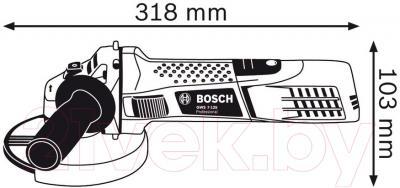 Профессиональная болгарка Bosch GWS 7-125 (0.601.388.108)