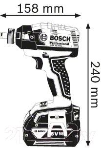 Профессиональный гайковерт Bosch GDX 18 V-EC Professional (0.601.9B9.100)