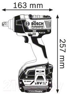 Профессиональный гайковерт Bosch GDS 18 V-EC 250 Professional (0.601.9D8.120)