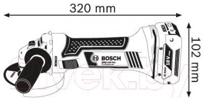 Профессиональная угловая шлифмашина Bosch GWS 18-125 V-LI (0.601.93A.30B)