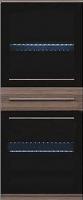 Шкаф навесной Black Red White Like S143-SFW2W1S-14-6 с подсветкой -