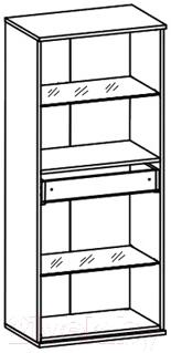 Шкаф навесной Black Red White Like S143-SFW2W1S-14-6 с подсветкой