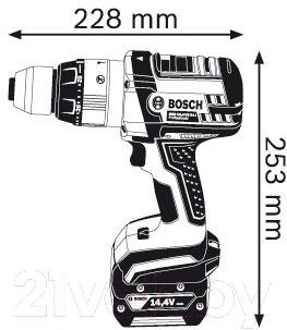 Профессиональная дрель-шуруповерт Bosch GSB 14.4 VE-2-LI Professional (0.601.9D9.200)