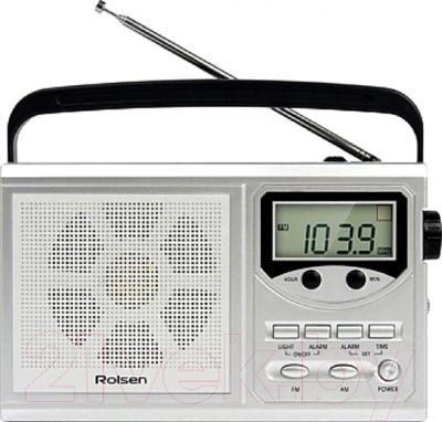 Радиоприемник Rolsen RBM216SL  (серебристый)