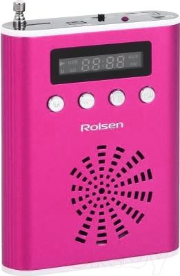 Радиоприемник Rolsen RBM521BU  (розовый)