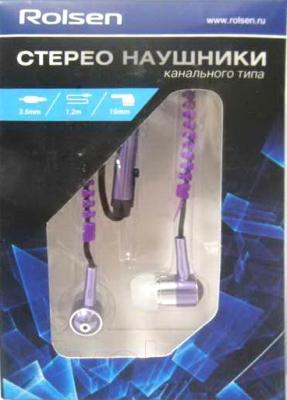 Наушники-гарнитура Rolsen REP-211 (фиолетовый)