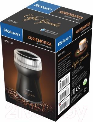 Кофемолка Rolsen RCG-151 (черный)