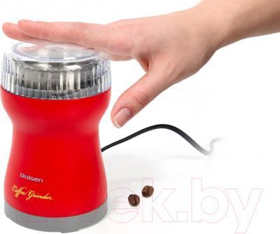 Кофемолка Rolsen RCG-151 (красный)